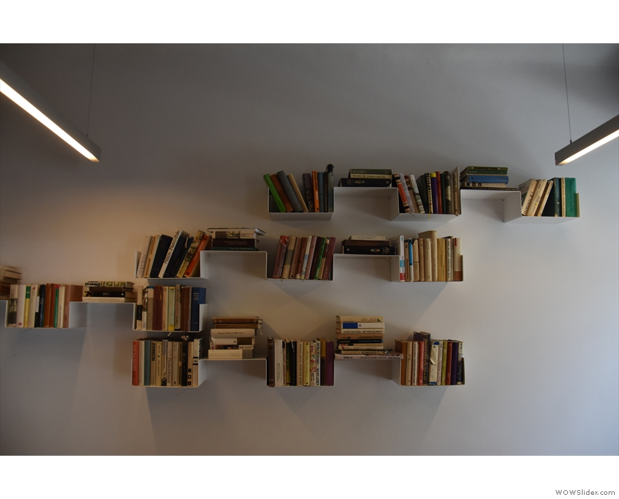 ... to bookshelves like these (and the murals that we've already seen).