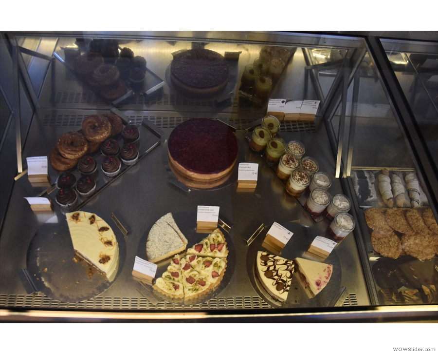 The only thing not covered by the menu? The cakes! They have their own display case.