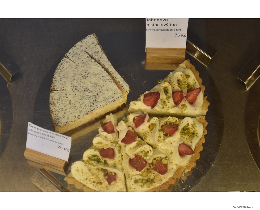 .. and this strawberry and pistachio tart, plus a cheesecake...