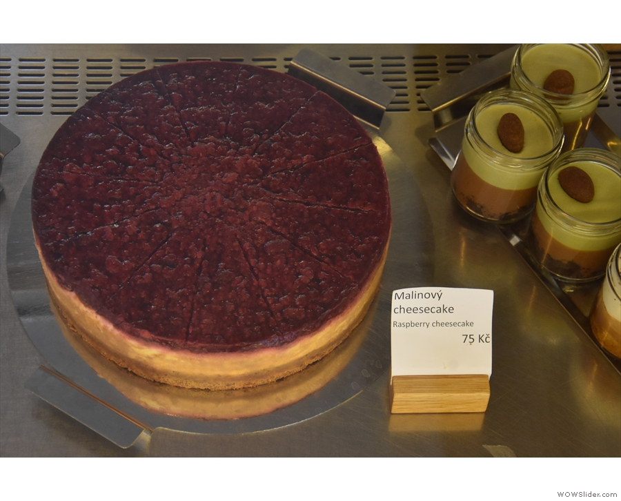 Finally, there's a whole raspberry cheesecake (of a different kind!).