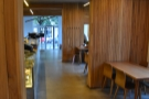... while here's the view from the end of the counter all the way to the door at the front.