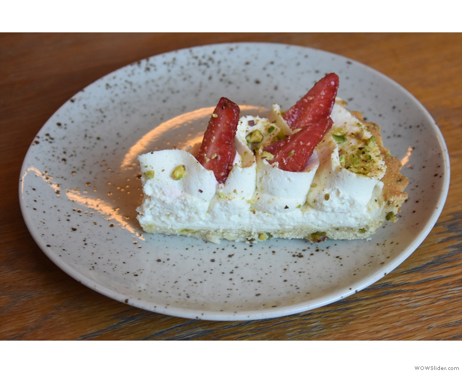 ... a strawberry and pistachio tart. Let me tell you, dear reader, Amanda won that round!