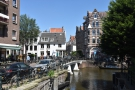 The view looking north across Lijnbaansgracht in Amsterdam and down Weteringstraat.