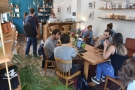 There's a single, communal table in the right-hand part of Back To Black. The remaining...