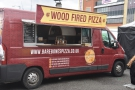 The usual stands from the previous day were joined by a wood-fired pizza van...