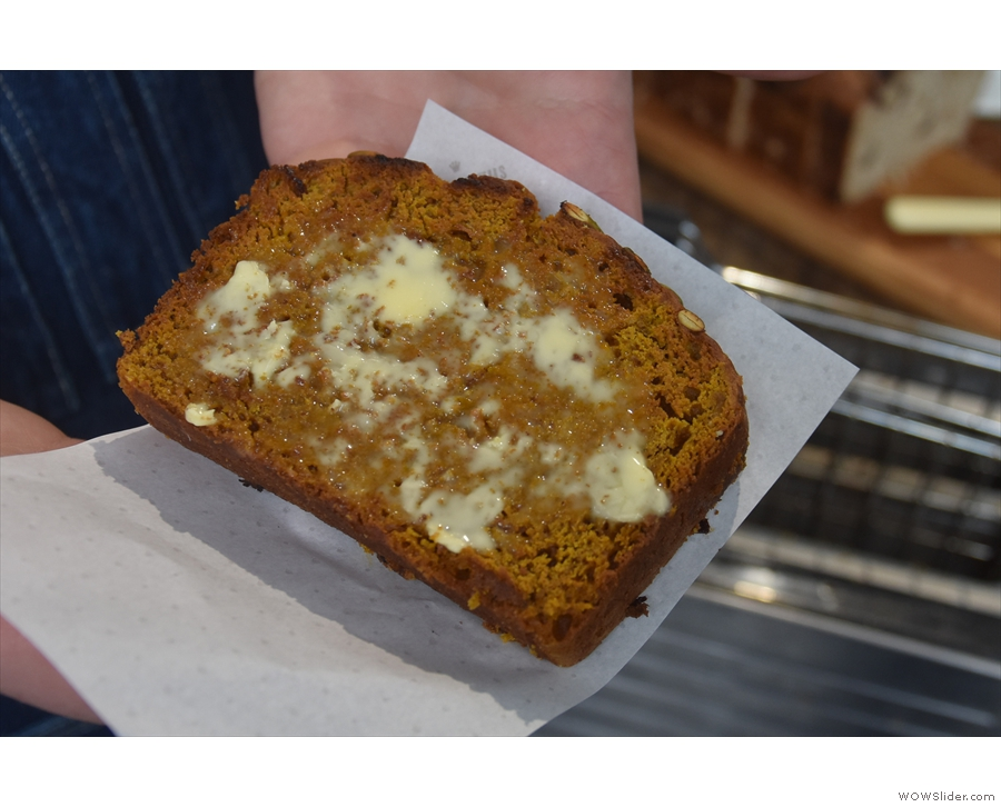 However, I was drawn to my old favourites, including the Smashing Pumpkin bread...
