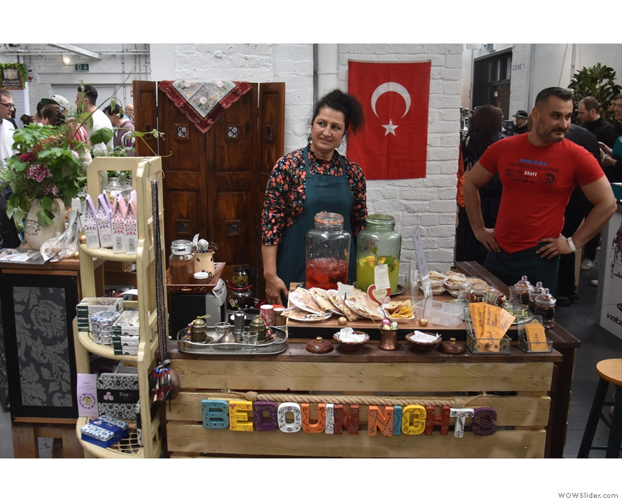 From old friends to new, here's Bedouin Nights, a Turkish catering company...