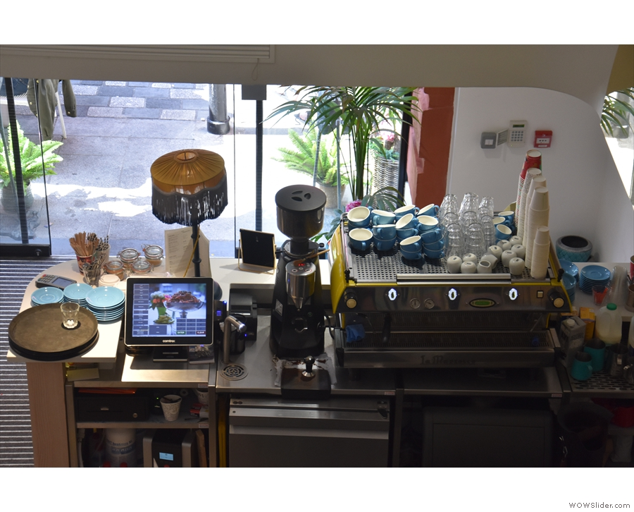 ... or check out the coffee being made...