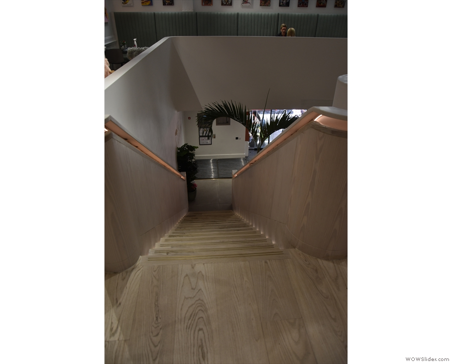 A view back down the stairs from the top. If they look too daunting, there's always...