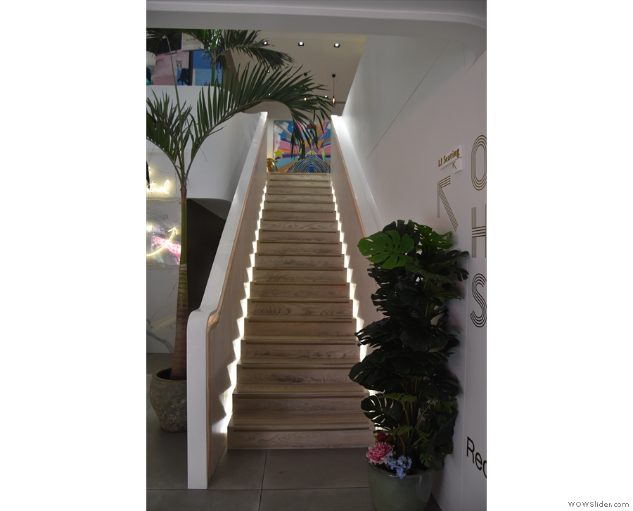 ... and since there is a long, broad staircase, it would be rude not to!