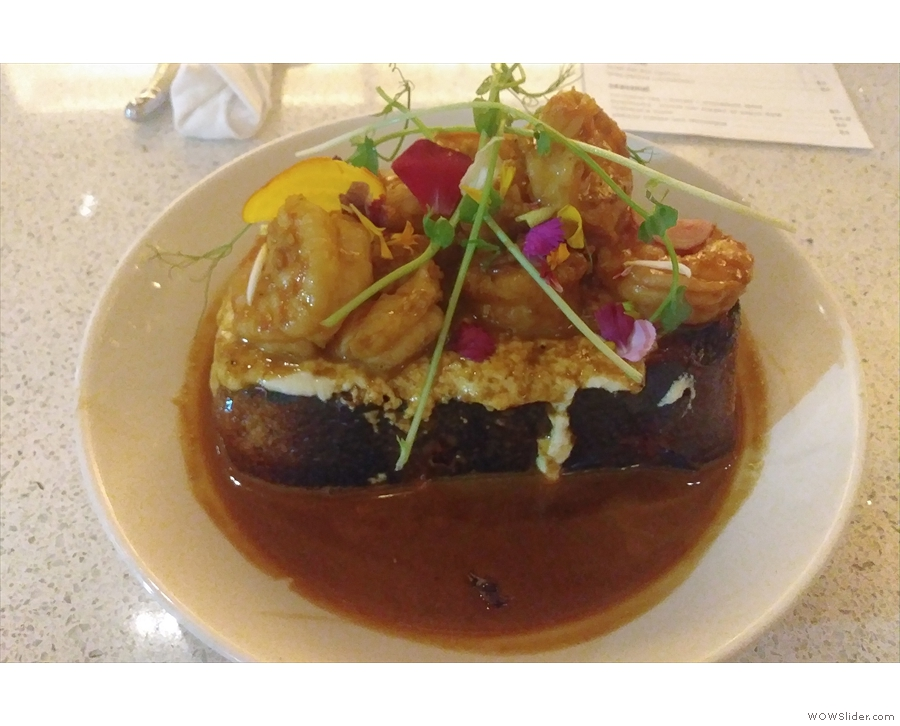 On my first visit, which was for dinner, I had the BBQ Shrimp Toast...