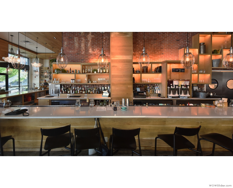 There's one more seating area: the counter, which doubles as a bar.