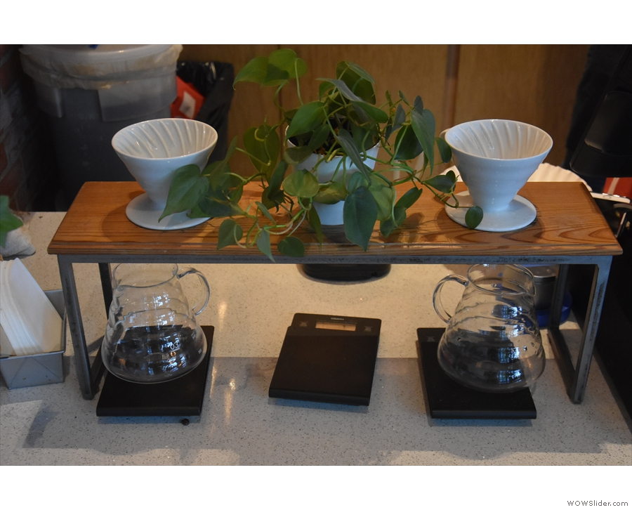 Well, that and the pour-over bar. How cool is that, by the way? A restaurant with a...