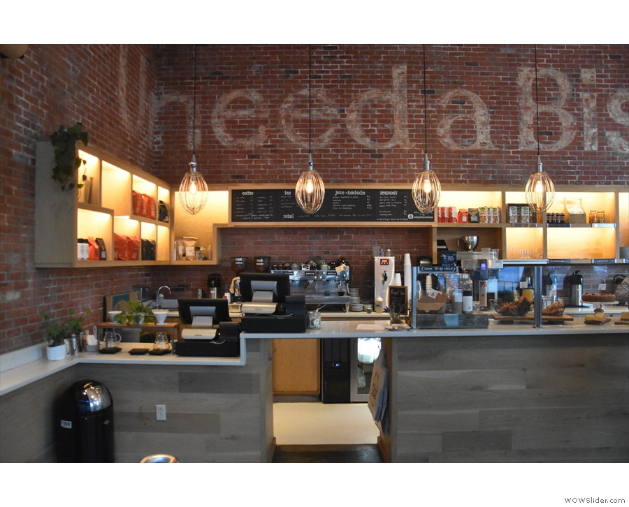 Although primarily a restaurant, there's a coffee counter straight ahead, which is all...