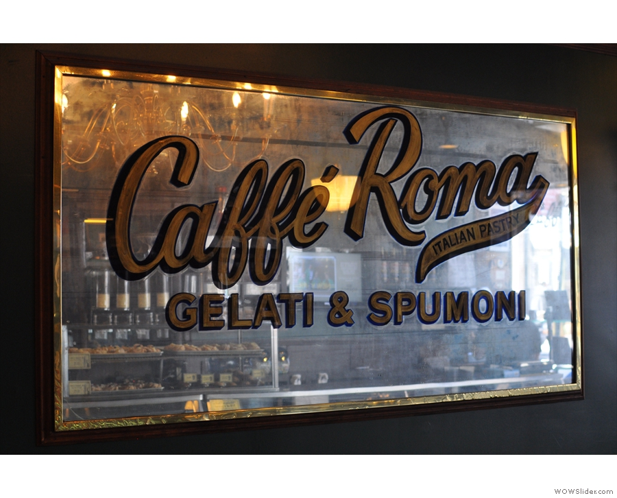 April: the wonderful Caffe Roma, Little Italy, New York City