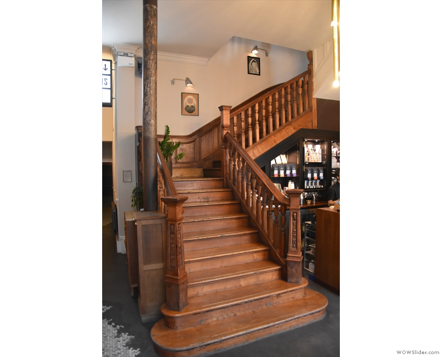 The best way to get upstairs is via this magnificent 300 year old staircase.
