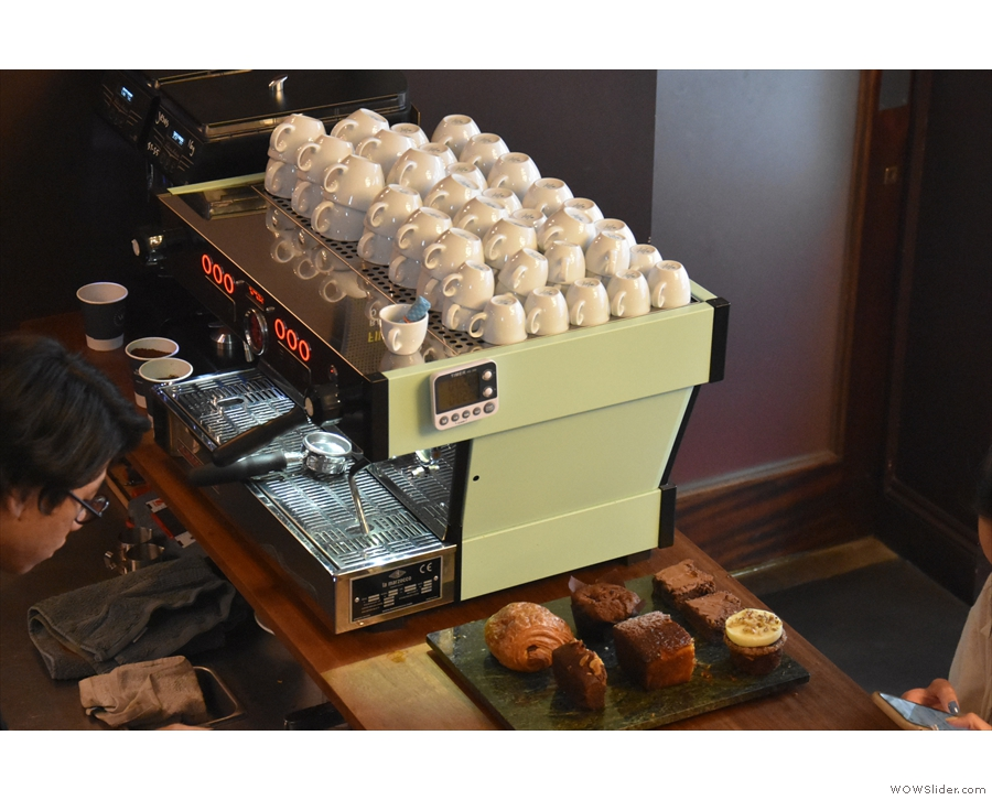 While you're up here, you can also check out the espresso machine!