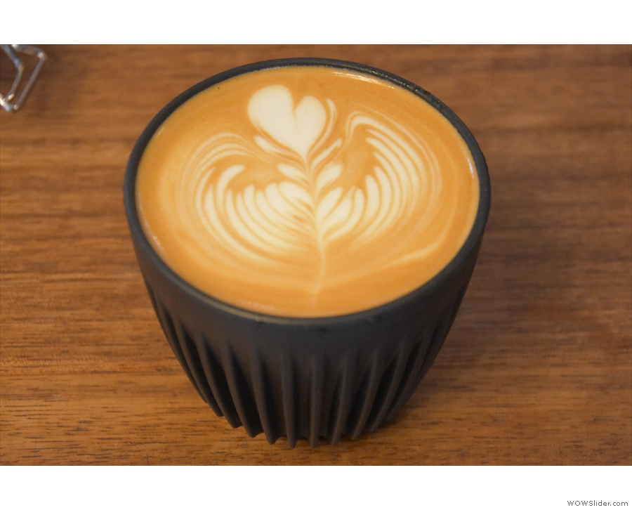 I was back most days after that for a flat white, such as this one, which I took into the...