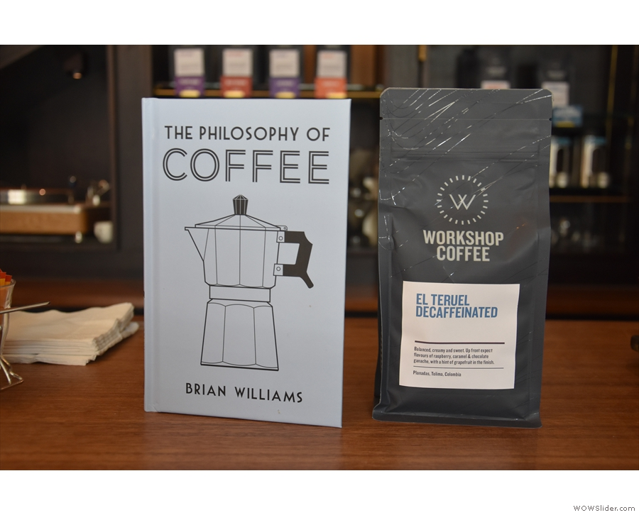 Finally, I didn't try the decaf, but did swap a copy of my book for a bag to have at home.