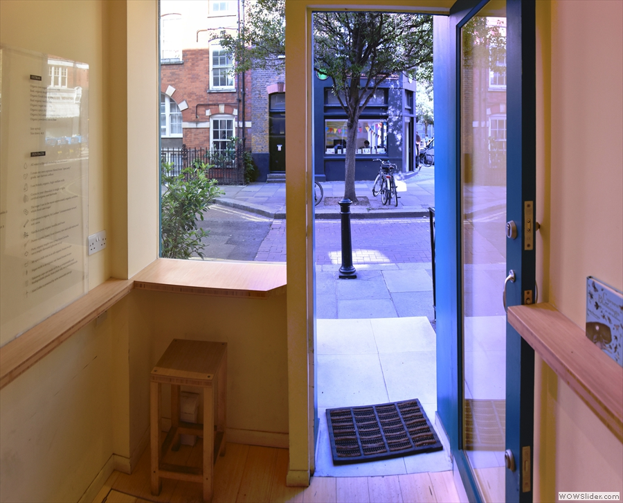 ... and another one in a window-bar to the right of the door, but that's about it.