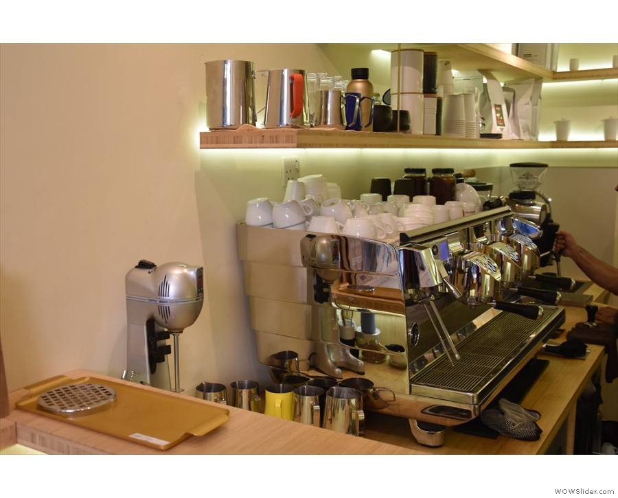 However, I wanted to try the espresso from the Victoria Arduino White Eagle machine...
