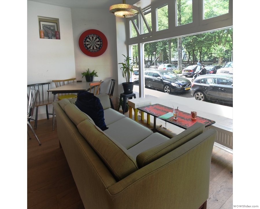 ... which is followed by this three-seater sofa, unusually positioned because...