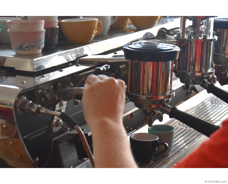If you stand by the till, you do get a good look at the barista at work.