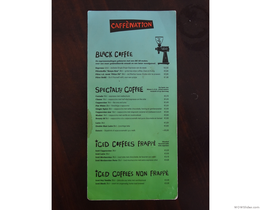 Menus, meanwhile, are dotted around on all the tables.