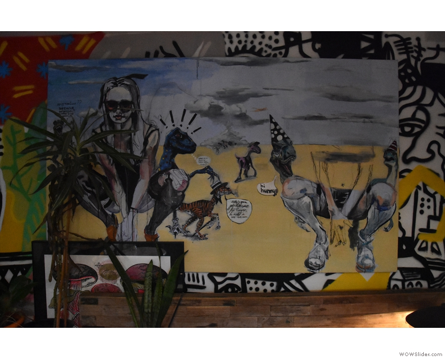 There's some amazing artwork at Caffènation, mostly painted onto the walls. This...