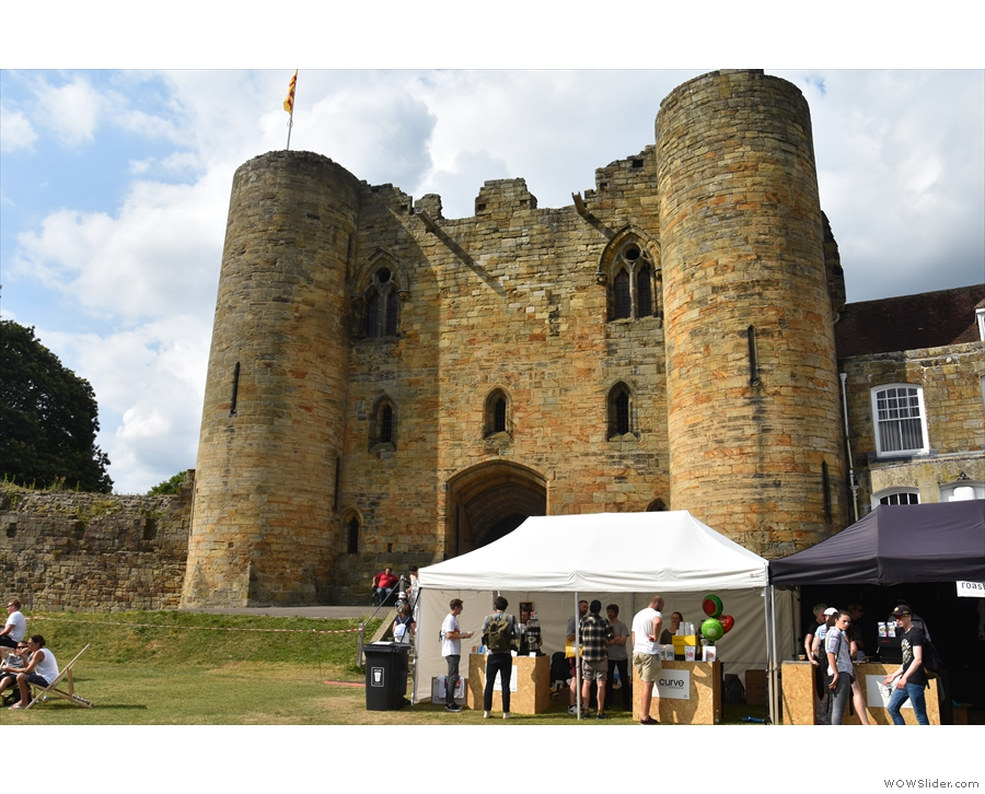 The gatehouse at Tonbridge Castle, the magnificent backdrop for Out of the Box.
