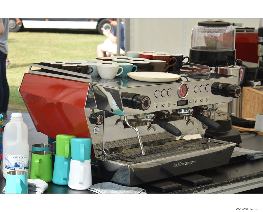 ... consisting of an KB90 espresso machine and Vulcano grinder.