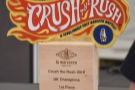 This is what they were playing for: the Crush the Rush trophy!
