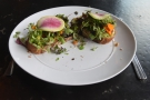 I had a late lunch, opting for the avocado toast, although that hardly does it justice.