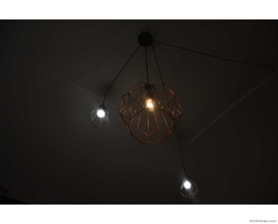 Naturally, I was drawn to the light-fittings. This one reminded me of a planet & its moons.