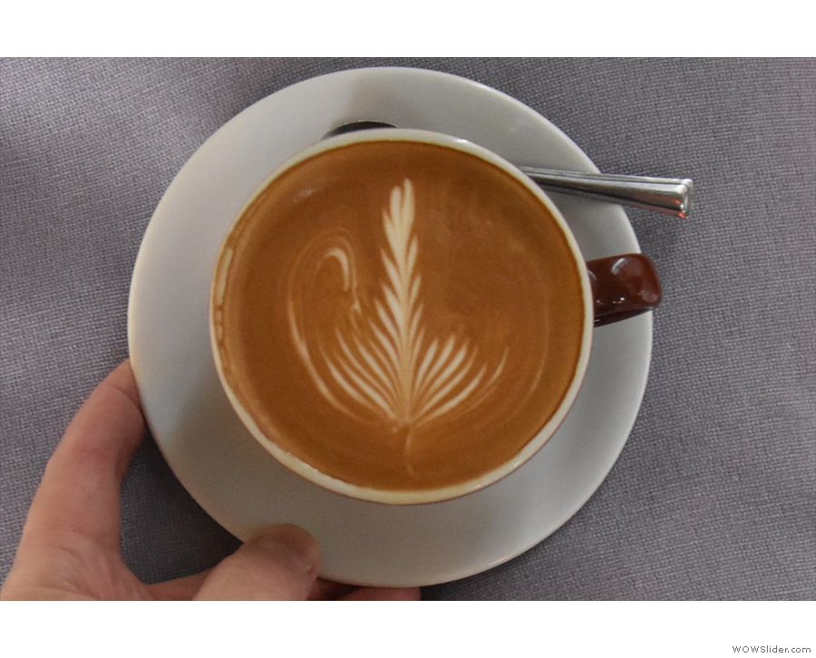 ... which is where I'll leave you, admiring the latte art.