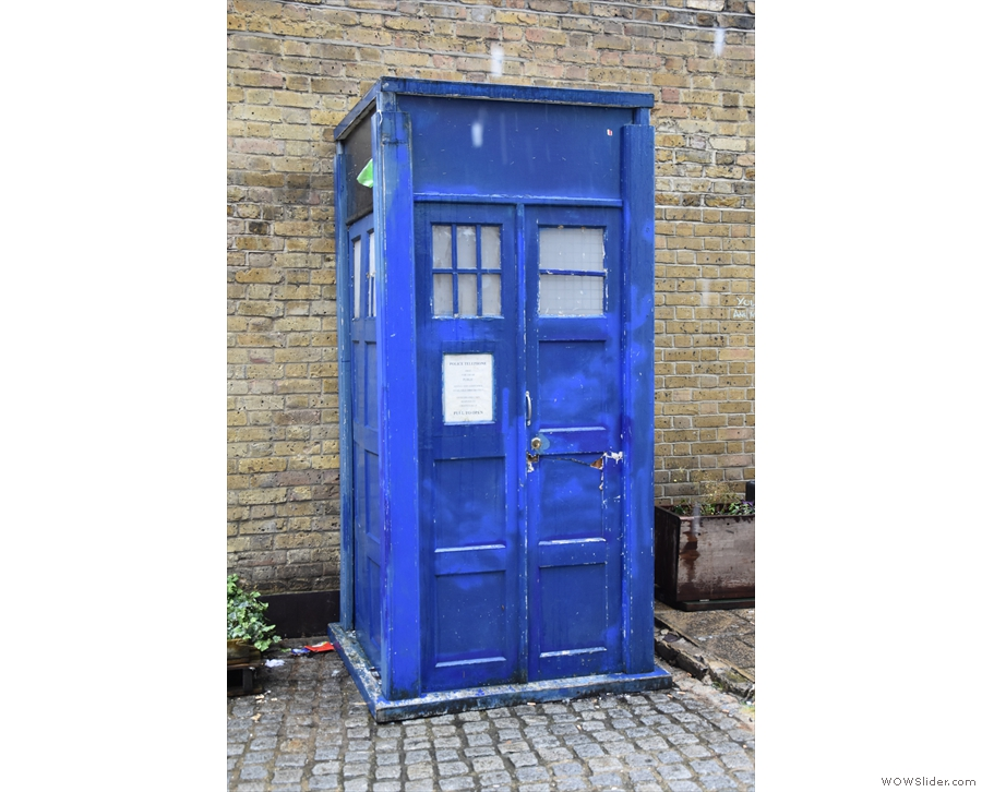 Perhaps the most important feature of all is still in place: the old police box, aka TARDIS!