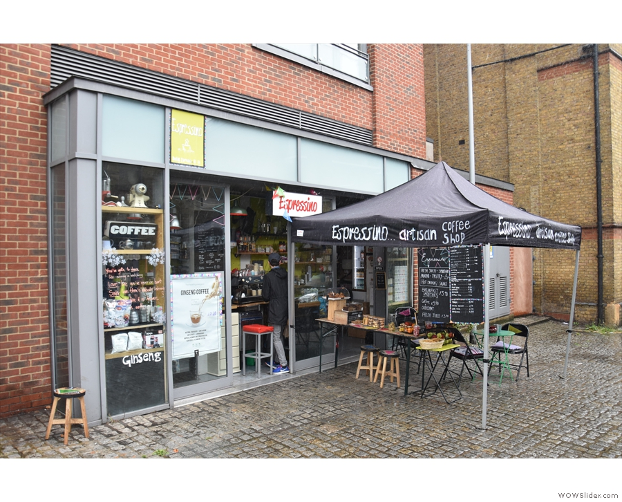 A new face in a familiar location: Espressino has taken over at Chapel Yard, Wandsworth.