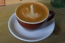 And my flat white...