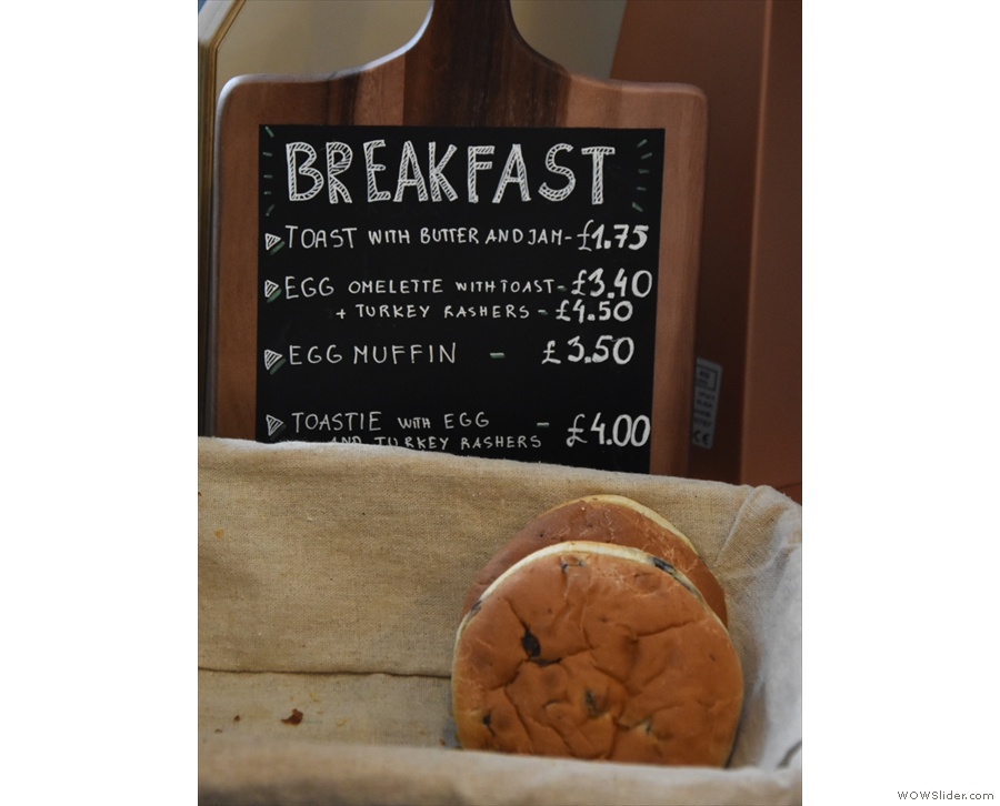 ... although there's also a breakfast menu on the counter itself.