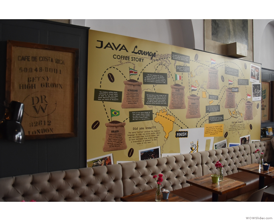 One of the many things I liked about the Java Lounge is the information on the walls.