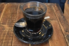 On my first visit, I had a Honduran single-origin V60, served in a glass...