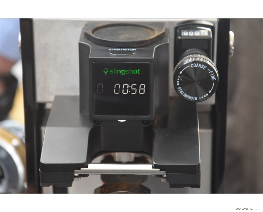 ... with a digital timer, just above the dispenser, counting up in seconds the time since...