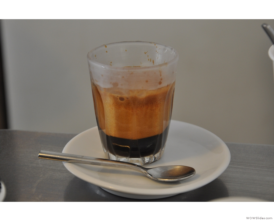 Talk about crema. Look at that!