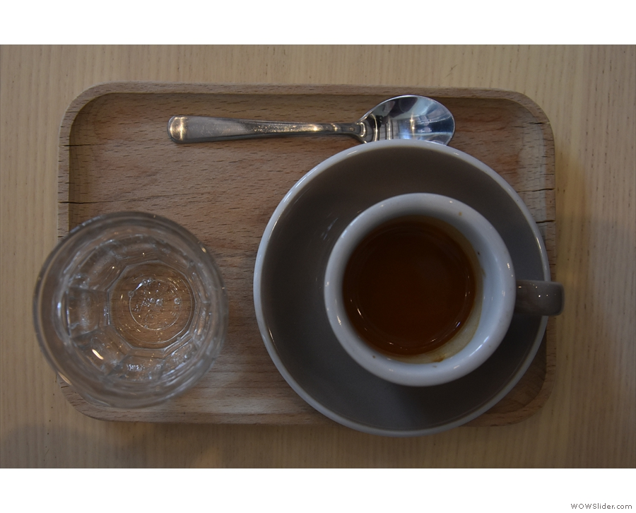 My espresso was gorgeous, by the way, a naturally-processed Kerinci Kayu Aro.