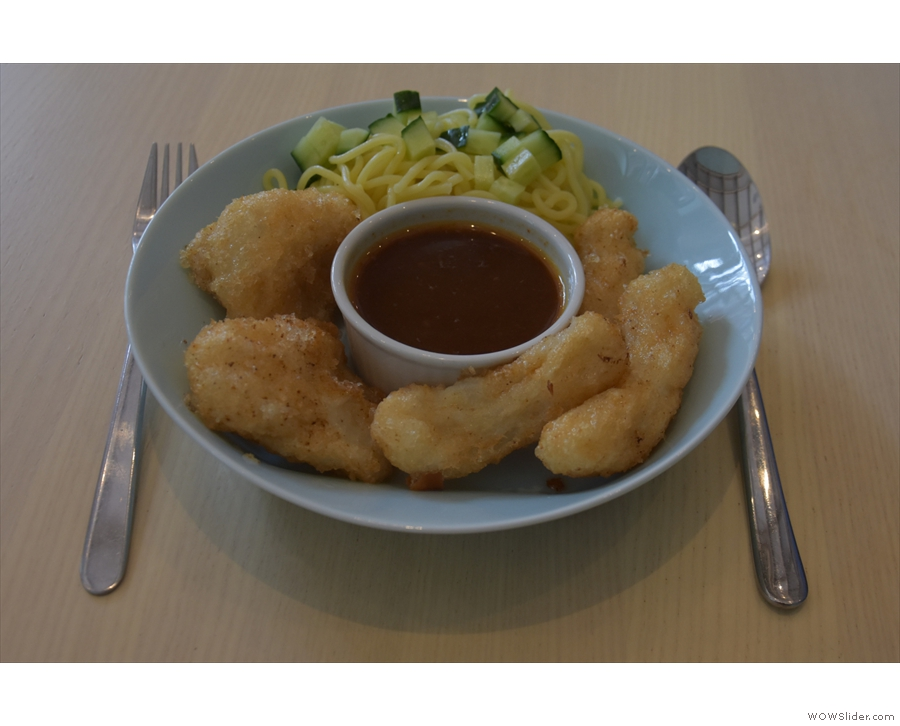 I followed that with lunch, the Indonisian fishcakes.