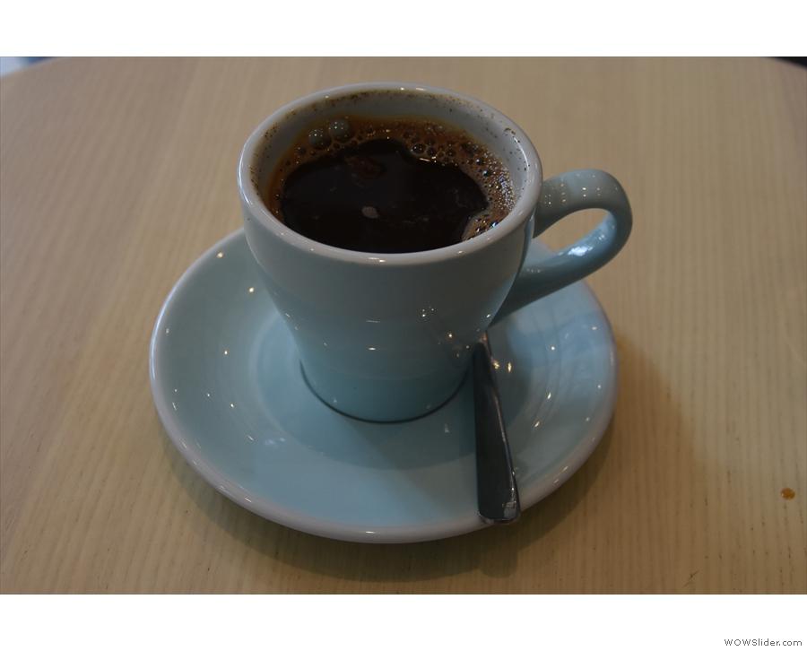 Finally, I tried a traditional Indonesian coffee, the Kopi Tubruk.