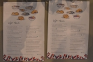 The menus in more detail, with a range of 12 Indonesian snacks and light meals.