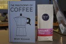 Before leaving, I swapped my book, The Philosophy of Coffee, for a bag of coffee...