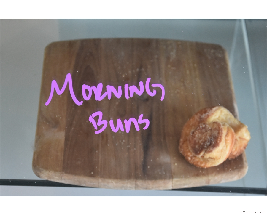 I was tempted by the last Morning Bun, but managed to resist.