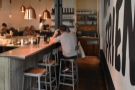 ... where you'll find more seating along the counter's right-hand side...